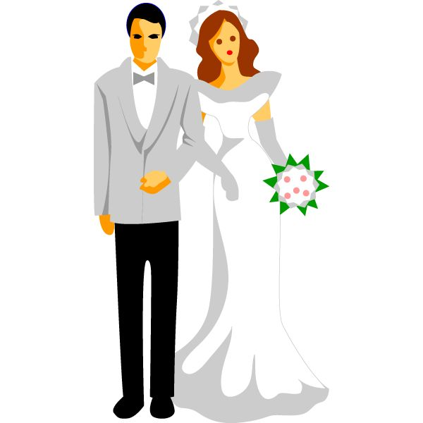 wedding reception clip art clipart best wedding clipart images rh pinterest com wedding party silhouette clipart Wedding Party Gifts