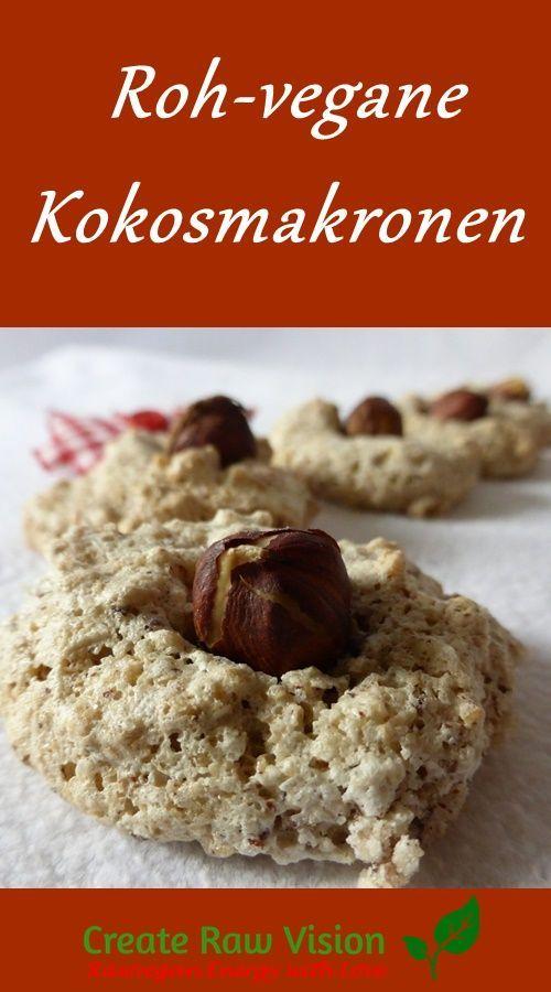 Weihnachtliche Kokosmakronen Roh & Vegan