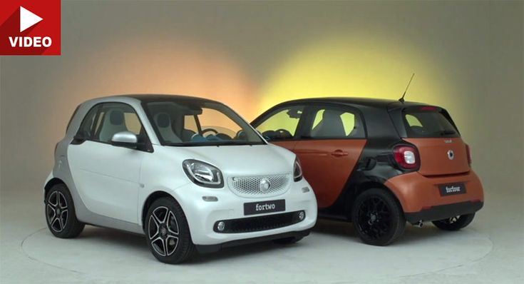 Static Preview of the Two New Smart Cars