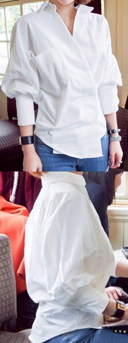 Elegant white shirt match your white skin.Also the price is reasonable.