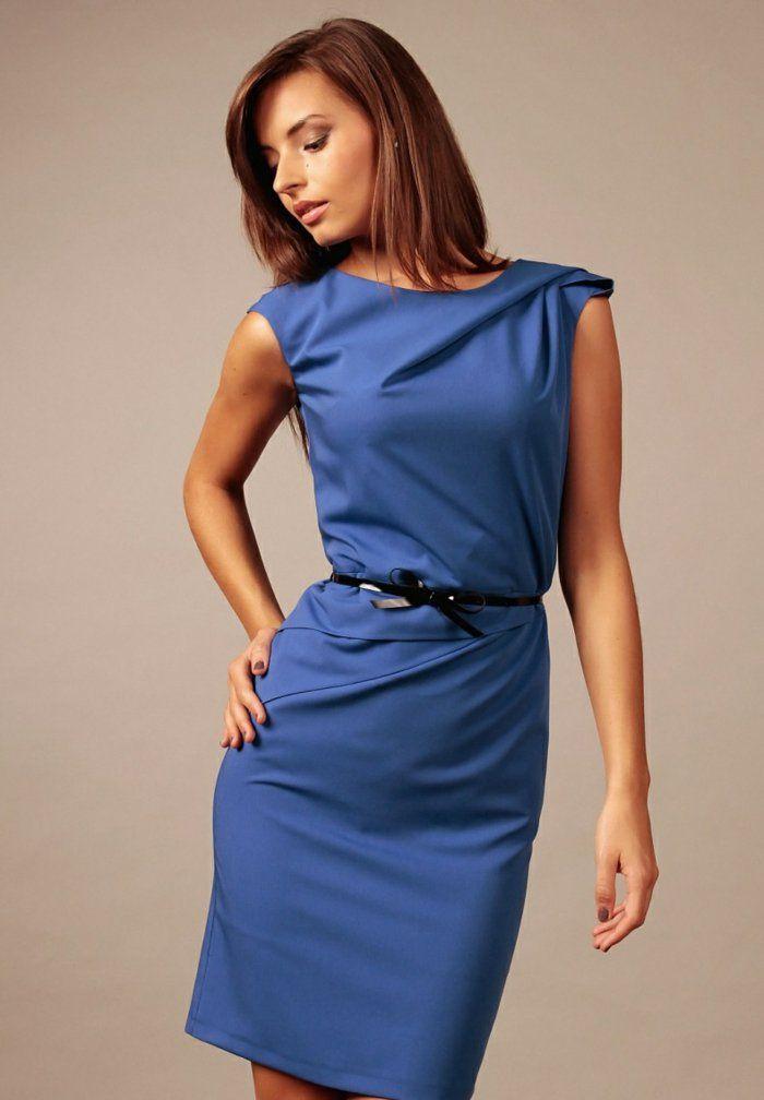 blaues kleid farbgestaltung blaue kleider dessin f r die arbeit kleidung und outfit. Black Bedroom Furniture Sets. Home Design Ideas