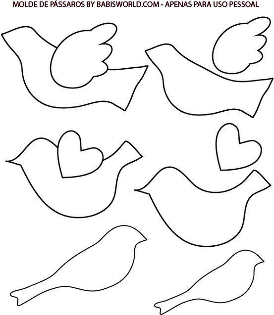 17 mejores ideas sobre Plantilla De Aves en Pinterest | Stencil de ...