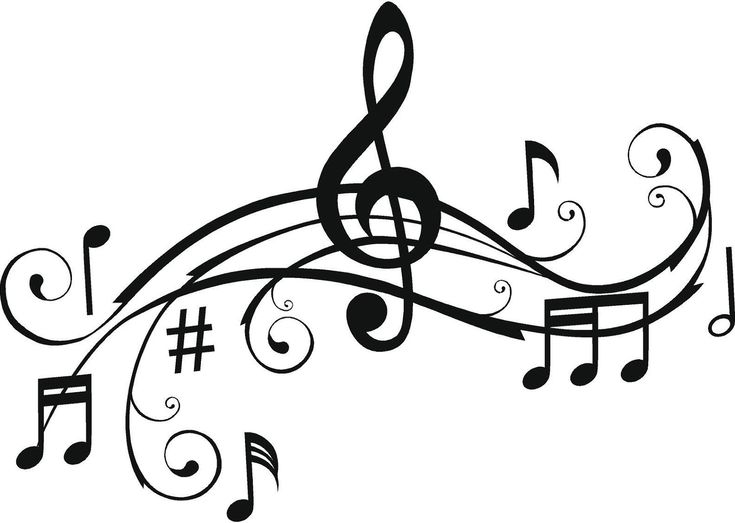Music Notes Wall Art Words Vinyl Lettering Stickers Decals Free Shipping to the U.S.. $22.99, via Etsy.