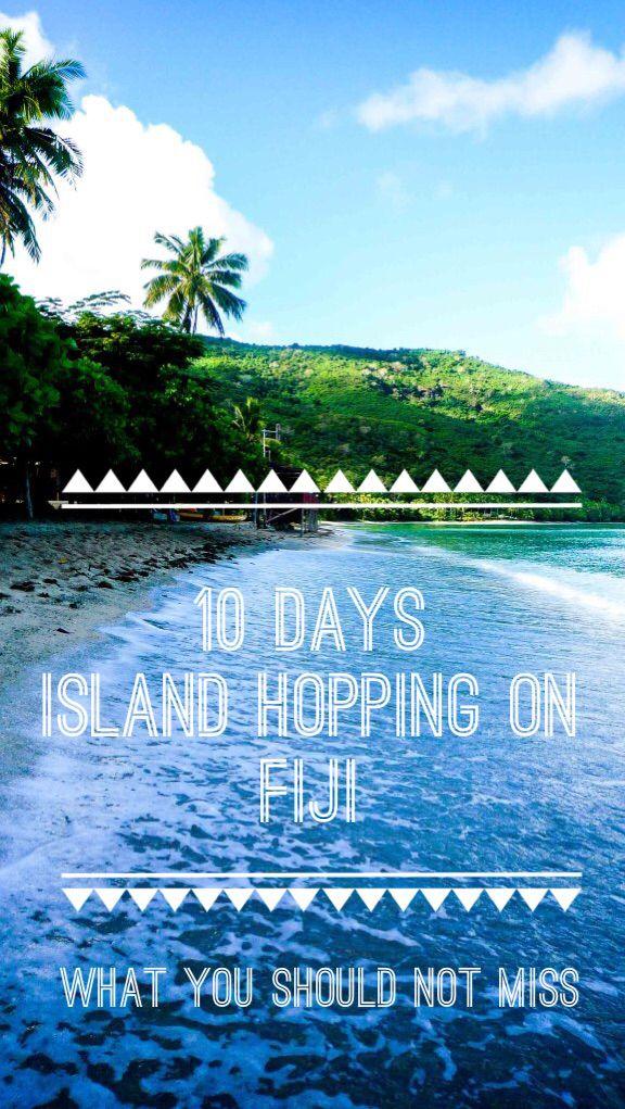 10 days, 6 islands, 2 friends, 1 paradise #travel #fiji
