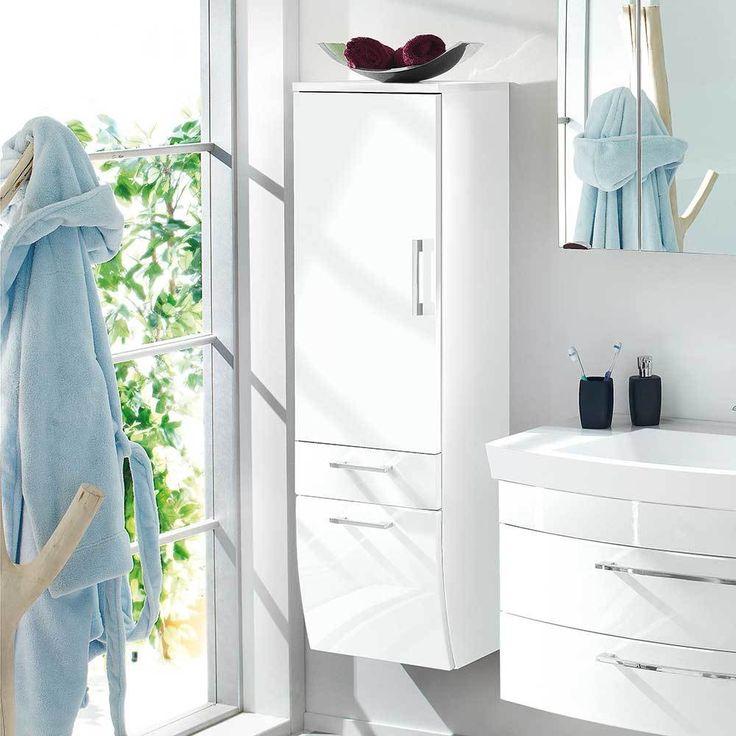 Hängender Badschrank In Hochglanz Weiß 40 Cm Breit Jetzt Bestellen Unter:  Https://