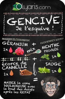 Plus moyen de manger votre glace sans que votre gencive ne vous le fasse remarquer ? Essayez l'huile essentielle de géranium. En mélange, ça calmera les zones douloureuses.