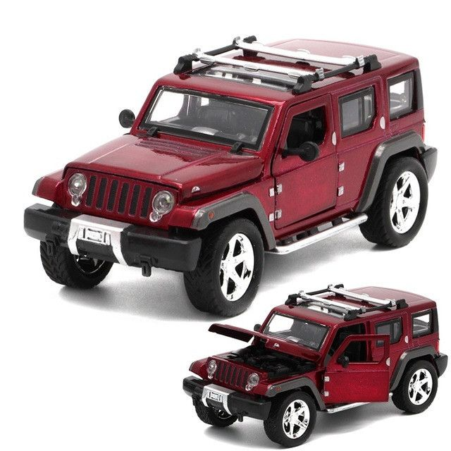 Jeep Wrangler Off Road Vehicle Car Styling Simulation Alloy Cars 1