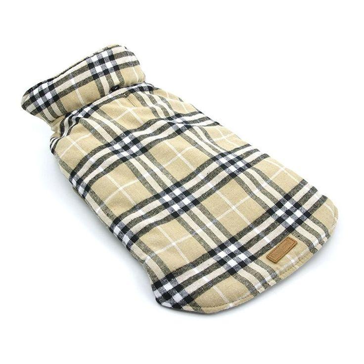 ThinkPet Reversible Dog Winter Coat, Dog Winter Jacket, Plaid