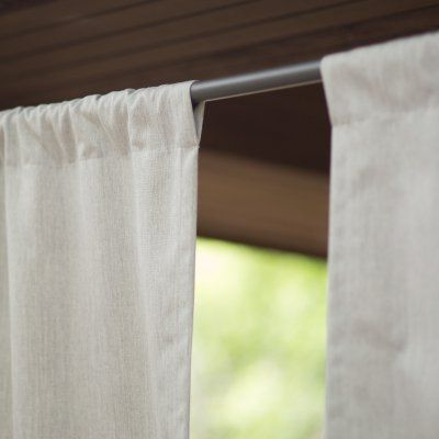 Coral Coast Sunbrella Outdoor Curtain Panel Canvas Heather Beige - 8692U-E5476