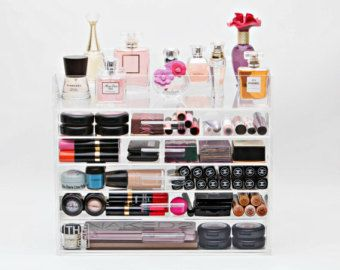 Clear Acrylic Makeup Organizer 7 Tier Wide with by MakeupOrganizer