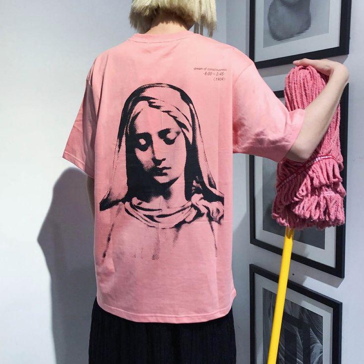 マリアプリント半袖Tシャツ