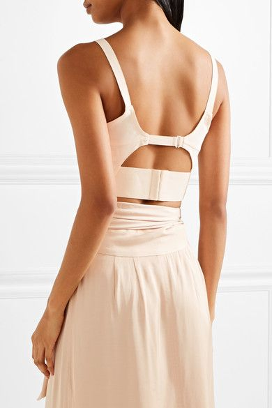 Elizabeth and James - Chandler Cutout Stretch-crepe Bra Top - Cream - x small