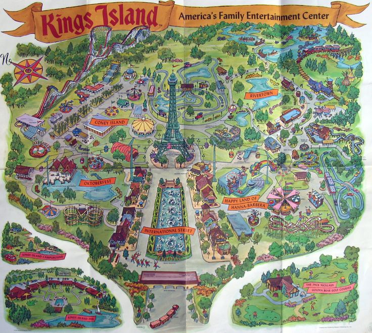 Best Theme Park Cartography Images On Pinterest Cartography - Map of us amusement parks