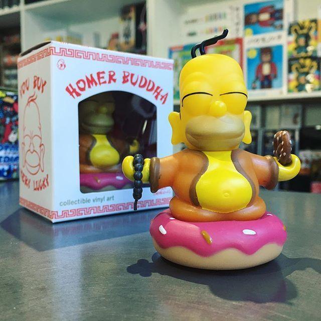 DAILY DEAL JAN19 - Kidrobot x The Simpsons Homer Buddha is 15% off in-store and online until midnight.  #mindzai #dailydeals #kidrobot #thesimpsons #homerbuddha #homersimpson #buddha #donut #pretzel #arttoys #arttoy #vinyltoy #vinyltoys #designertoys #designertoy #art #vinyl #designer #toy #toys #collectibles #collectible #markham #toronto