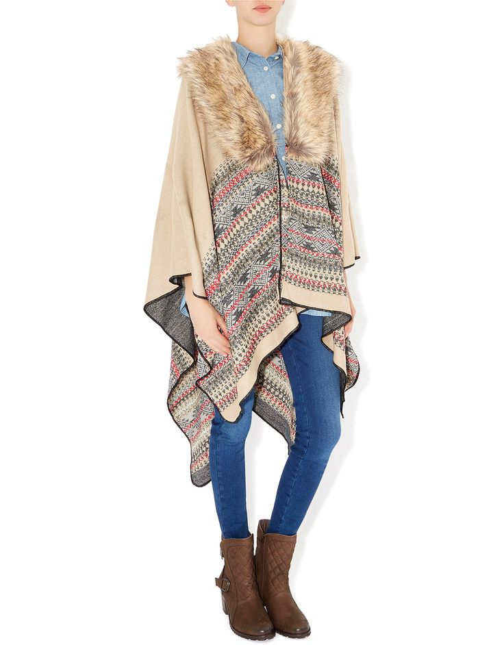 Layer it up with this poncho from Accessorize!