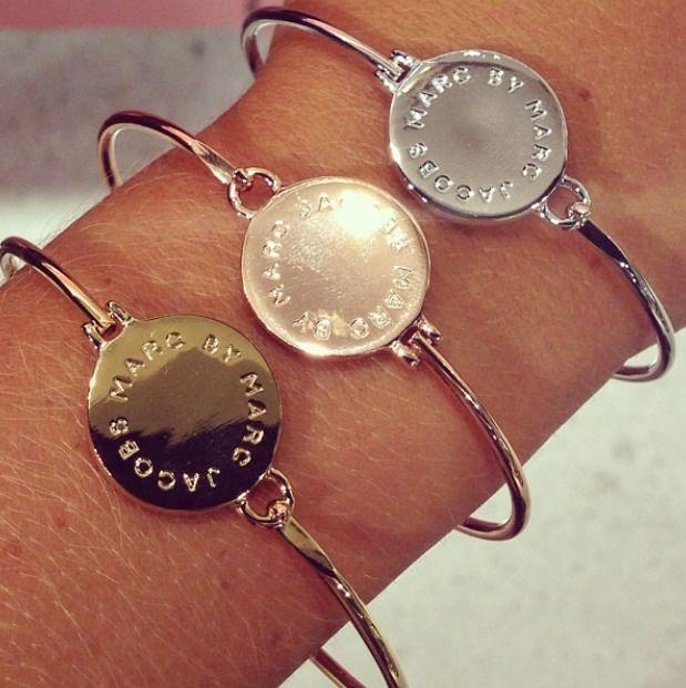Marc Jacobs big logo hinge bracelets