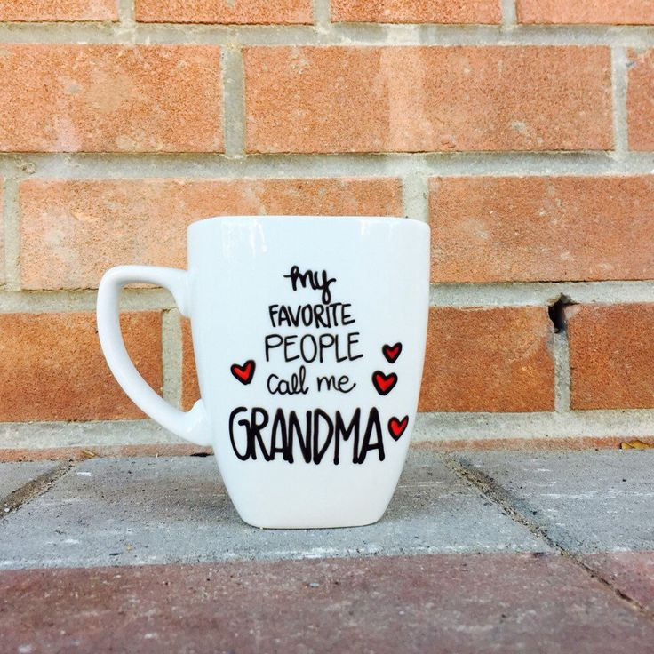 Grandma Mug  Grandmother gift Coffee Mug for Grandma Gift for her by PupocoARTS on Etsy https://www.etsy.com/listing/230619155/grandma-mug-grandmother-gift-coffee-mug