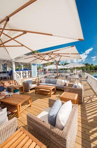 Waterside Dining at Valentines Resort Harbour Island