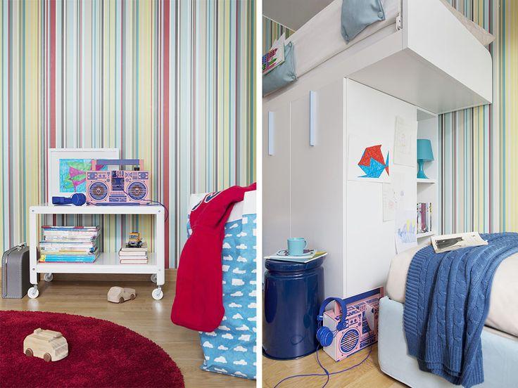 Makeover totale per la stanza di due gemelli dodicenni. Non è solo questione di stile: ora tutto è ben definito e lo spazio è moltiplicato.