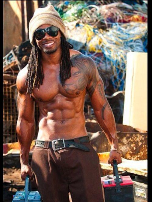 sexy black dreadlock men