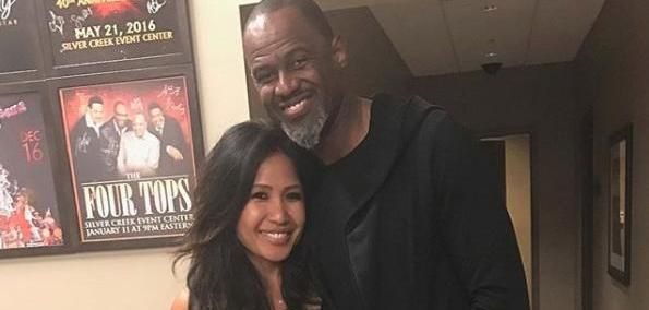"""""""Back at One"""" singer Brian McKnight shared photos on New Year's Eve from his wedding to Leilani Mendoza at Oheka Castle."""