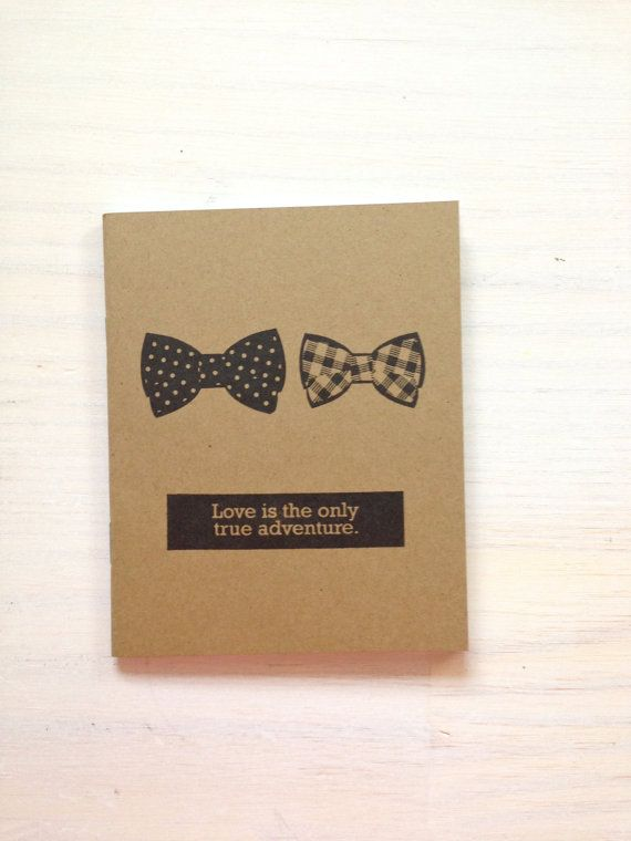 Notebook: Bow Tie, Gay Wedding Gift, Medium Notebook, Love, Wedding Favor, Journal, Blank, Unlined, Unique, Gift, Small, For Her, For Him