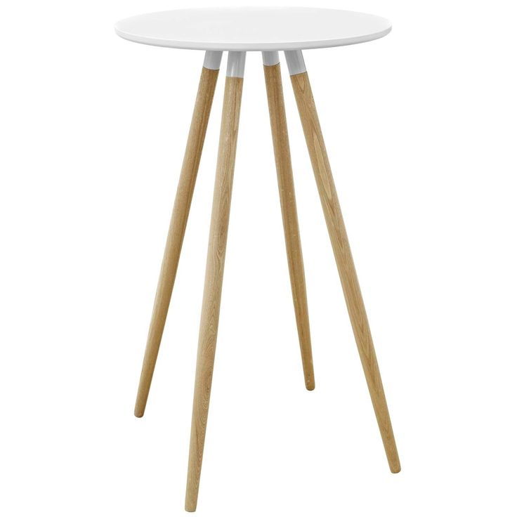 Modway Track Round Bar Table, White