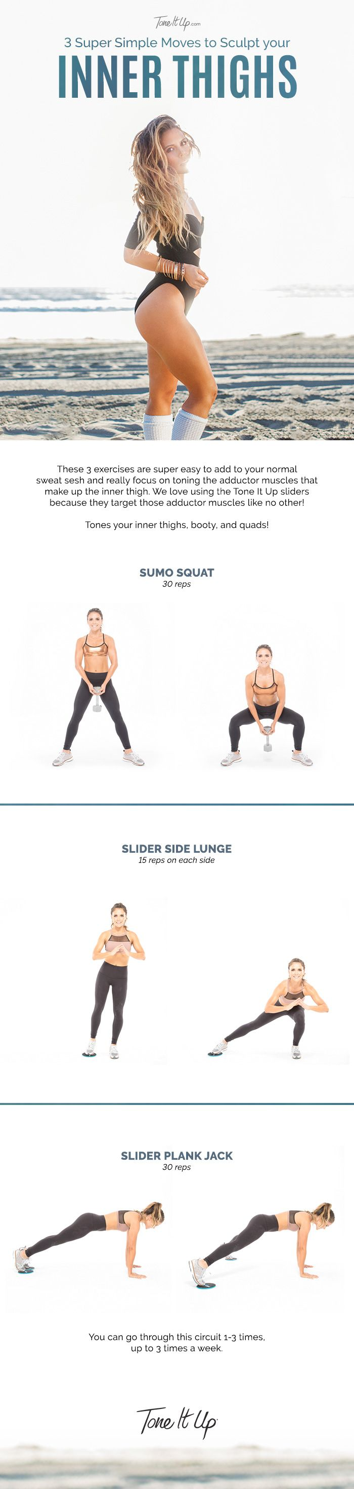 Whenever Karena and I design a Tone It Up legs and booty workout, we make sure to have you sculptin your lower bod from every angle — including your inner thighs! This ensures you're gaining strength and stability, as well as lifting that... #bestinnerthighworkout #innerthigh #innerthighworkout