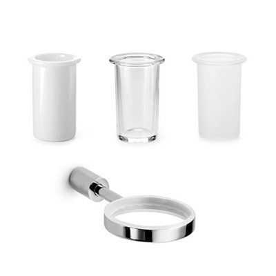 WS Bath Collections Picola 52511+55003 Single Holder with Toothbrush Holder