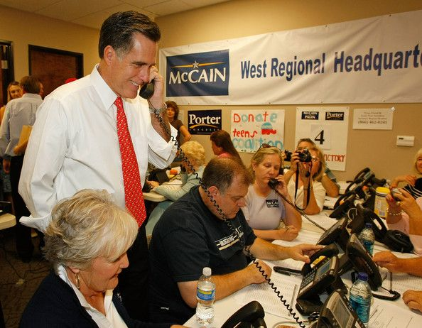 Mitt Romney Election Headquarters | Mitt Romney Rallies McCain Campaign Workers Days Before Election