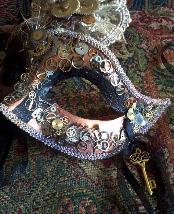 Steampunk masquerade mask by artchik101 on Etsy, $95.00