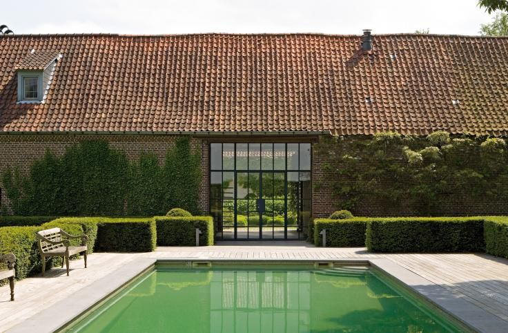 Barn conversion with swimming pool mooie huizen hoeves for Swimming pool conversion