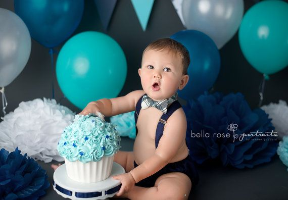 Baby boy first birthday outfit boy cake smash by ShopLilSquirts