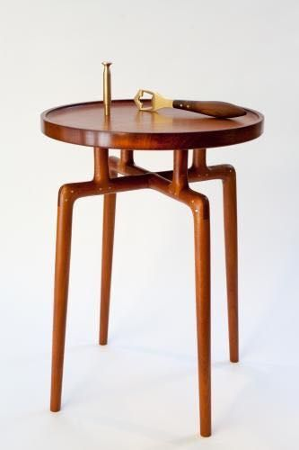 Phalanx Side Table By John Galvin Hand Crafted From 200 Year Old Brazilian  Mahogany