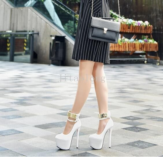 16CM Stilettos Sexy Womens Platform Sandals Night club Shoes Ankle Buckle Pumps | eBay
