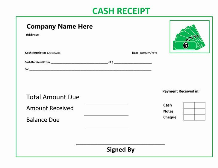 Free Cash Receipt Template Best Of Cash Receipt Template Receipt Template Free Cash Check And Balance