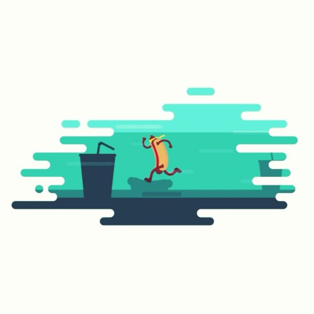 "72 mentions J'aime, 3 commentaires - Jordan Coelho (@coelhojordan) sur Instagram: ""Hot-dog Ninja #animation #motion #character #run #loop #sausage #food"""