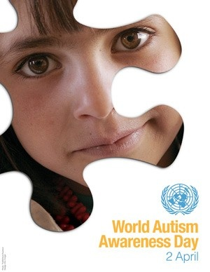 """""""Autismo, più frequente di quanto non si pensi"""".  Oggi 2 Aprile 2013 è la VI Giornata Mondiale per la consapevolezza dell'autismo, promossa dalle Nazioni Unite proprio per sensibilizzare le popolazioni di tutto il mondo su tale patologia."""