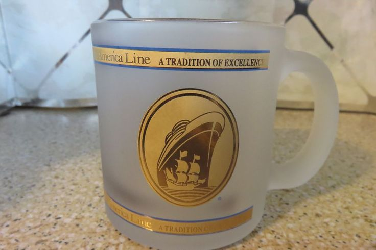 Ms Zuiderdam HOLLAND AMERICA LINE Cruise Ship Frosted Coffee Mug / Cup NEW