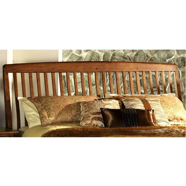 Mission Craftsman Sleigh Bed Headboard Queen
