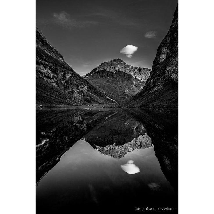 Ud, vil jeg! ud! - o, så langt, langt, langt over de høje fjælde! her er så knugende, tærende trangt, og mit mod er så ungt og rankt, - lad det få stigningen friste, - ikke mod murkanten briste!  #norangsdalen #ørsta #møreogromsdal #landscape #landskap #scenery #bnw #bw #svarthvitt #picoftheday #fjell #canon #zeiss #1dx #bjørnson #overdehøjefjælde