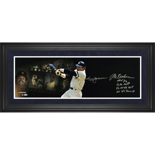 "Reggie Jackson New York Yankees Fanatics Authentic Framed Autographed 10"" x 30"" Filmstrip Photograph with Multiple Inscription-Limited Edition of 12 - $449.99"