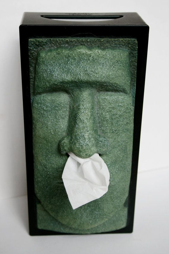 Easter Island Moai statue Kleenex Box Cover Unique by AbateArts $16.00 & 20 best Stone Tissue Box Covers images on Pinterest   Tissue box ... Aboutintivar.Com