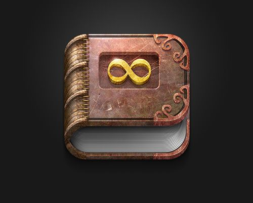 App Icon Infinite Story #mobileappicons #iosappicon #uidesign #graphicdesign #inspiration