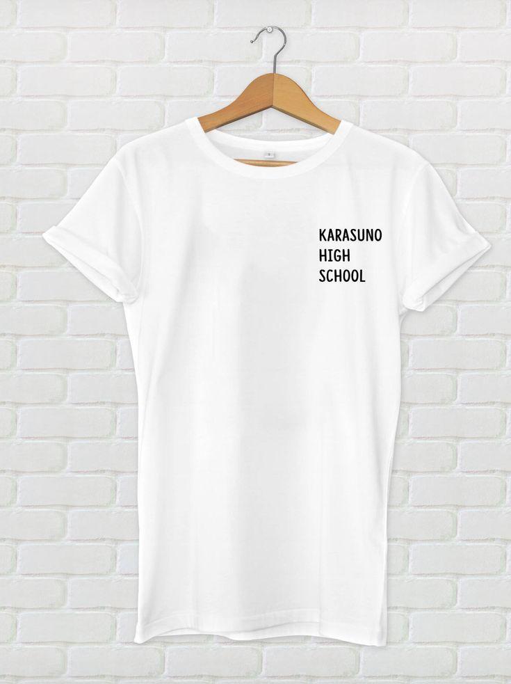 Karasuno high school tshirt unisex tops tees anime