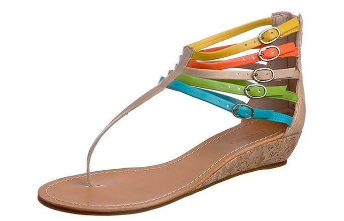 arc-en-ciel - Les sandales de couleur sandales colorées 2011