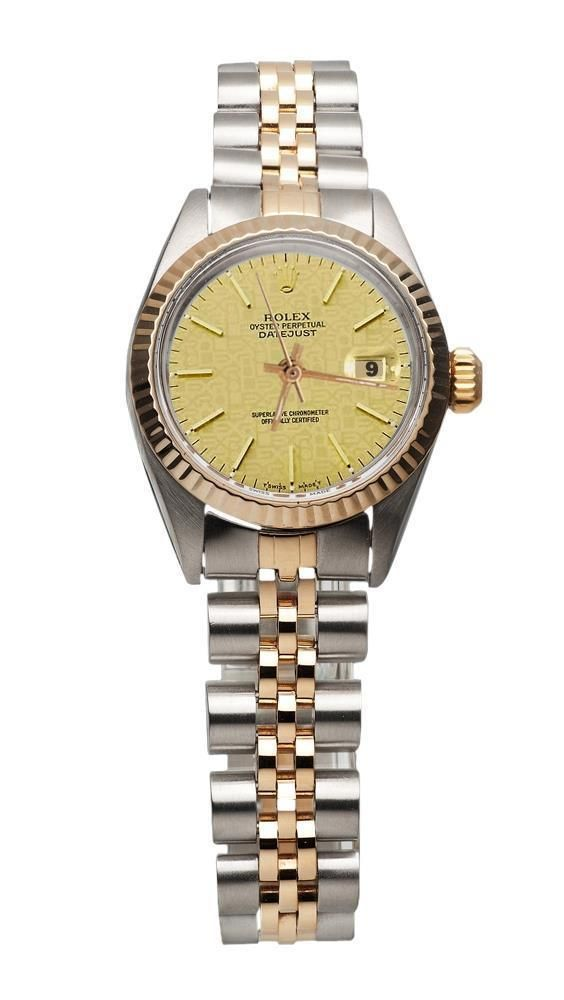 40d08366f40 Lady watch champagne stick dial Rolex bezel pink gold jubilee FG3353 ...