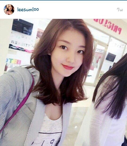 Korean medium brown hair