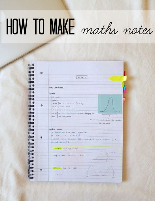Lattes and Netflix — How to Make Maths Notes