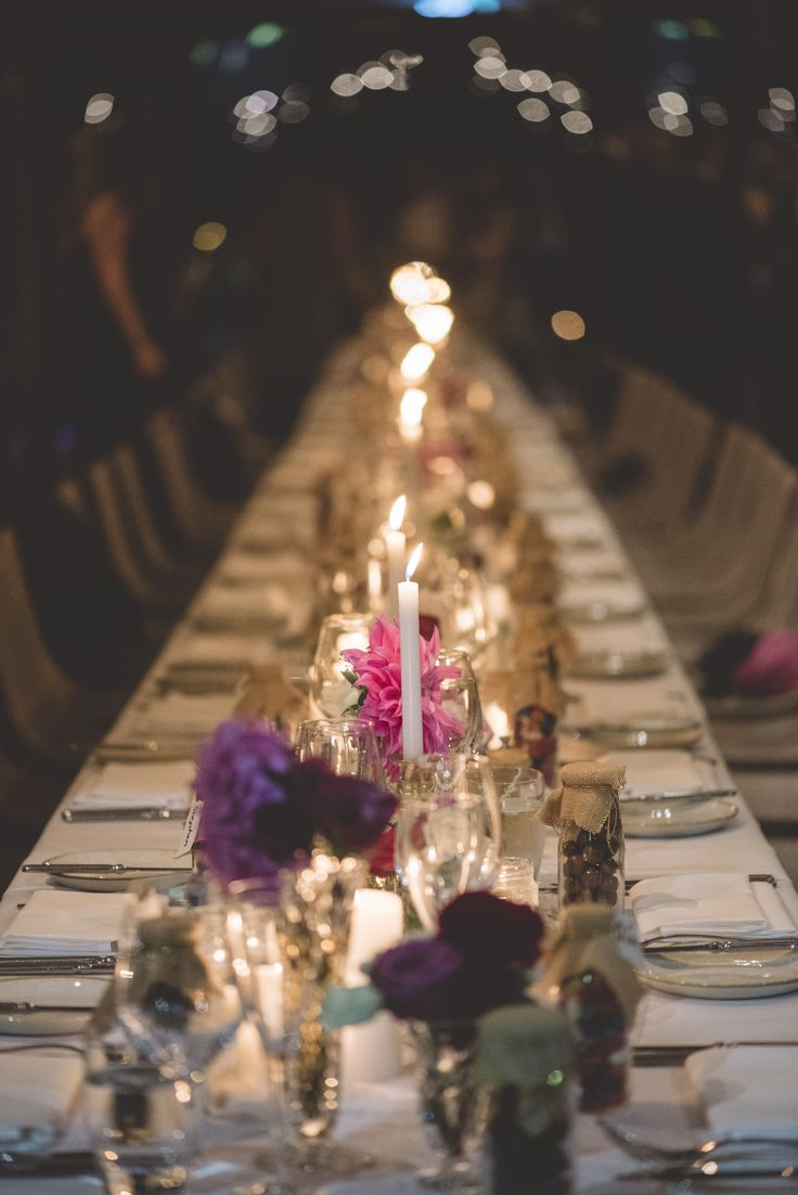 The fabulous #Driftevents wedding designer! #longtables #Candles #flowers #Brass #pink #cutglass